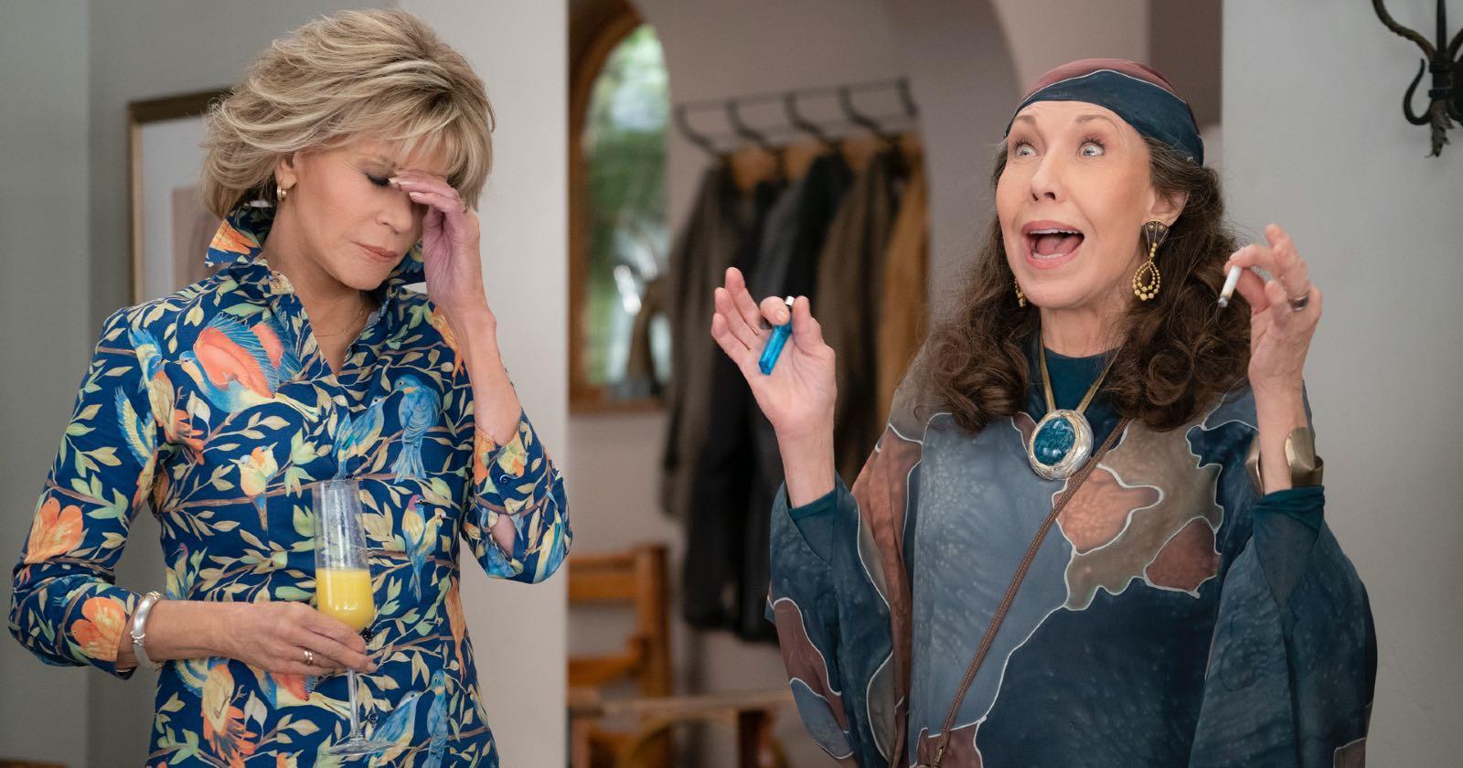 Grace y Frankie en la primera temporada de esta comedia original de Netflix
