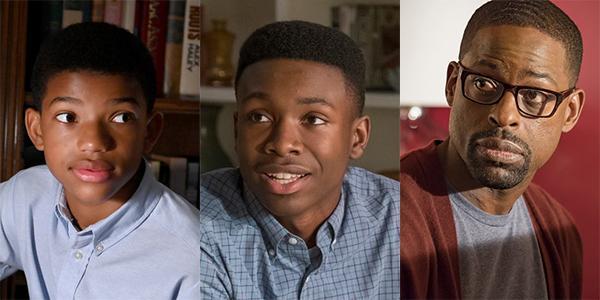 Lonnie Chavis, Niles Fitch y Sterling K. Brown como Randall Pearson