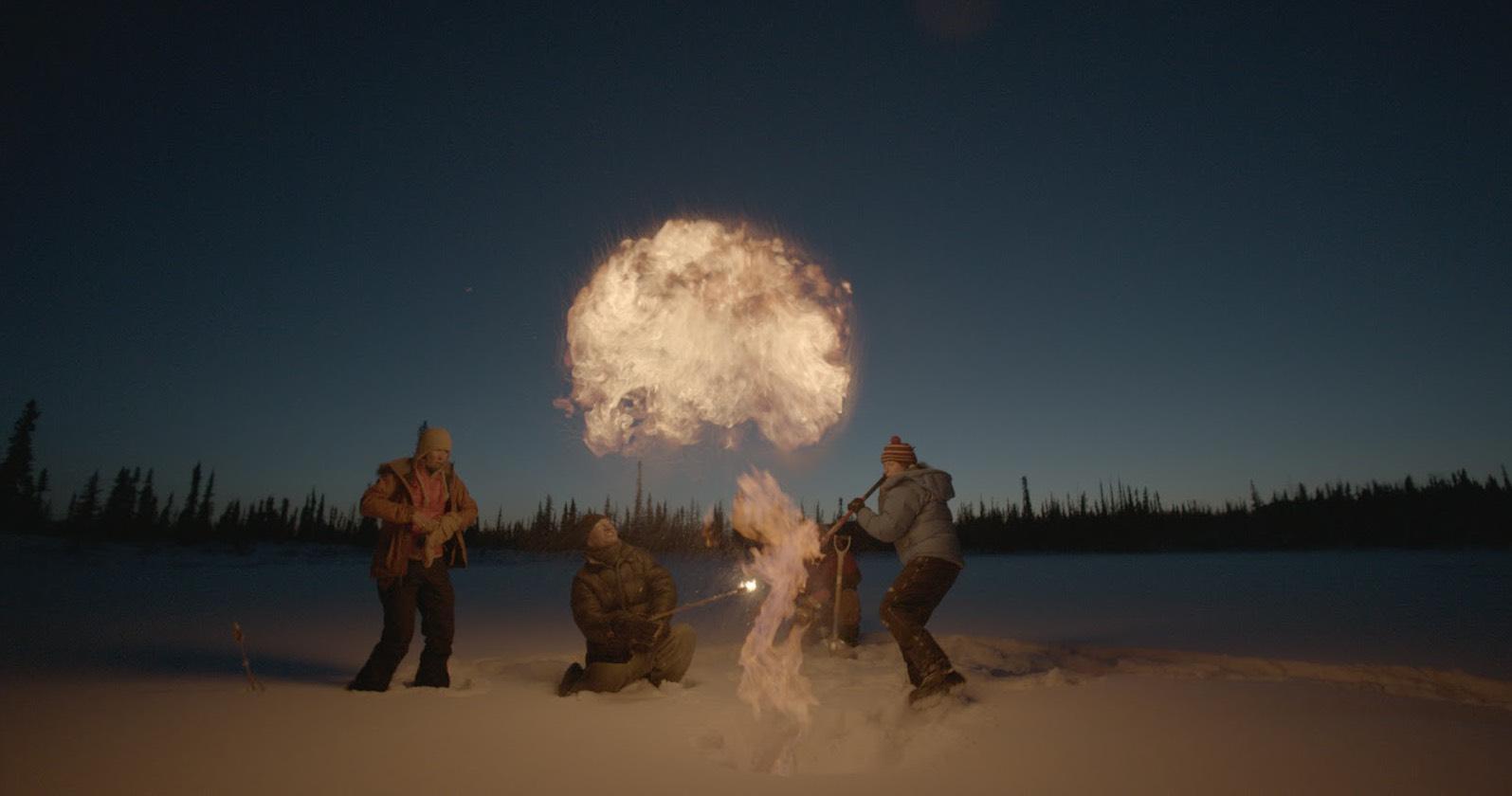 Escena del documental Racing Extintion. Documentales sobre el planeta.