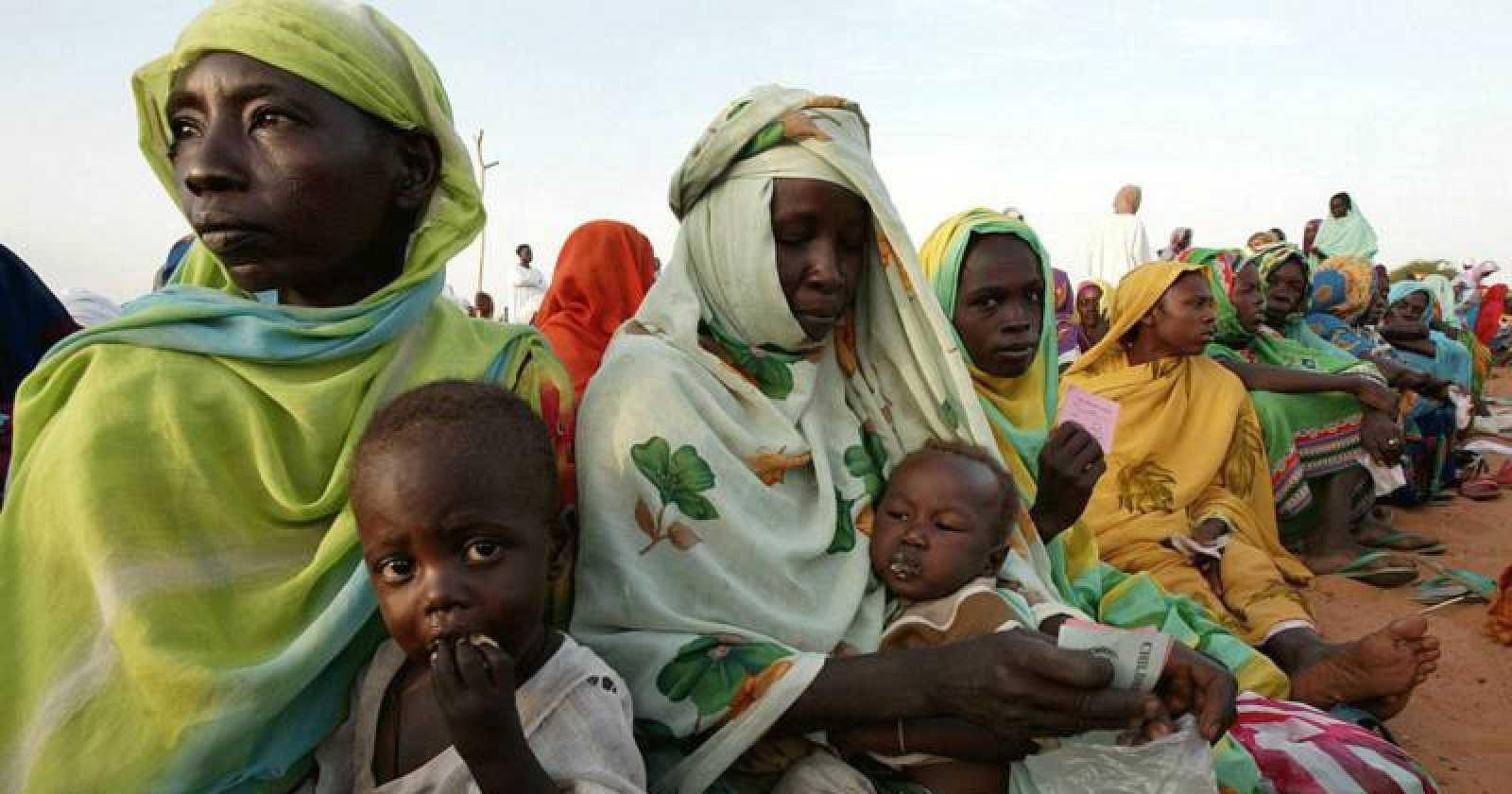 Representación de la pobreza en África central.