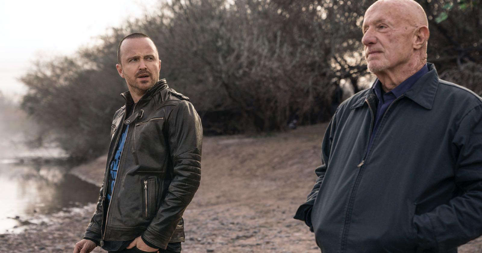 Aaron Paul y Jonathan Banks en la película El Camino, de Breaking Bad