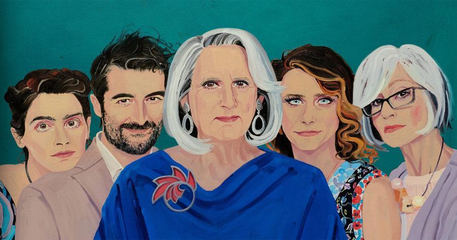 Retrato pintado del elenco de Transparent.