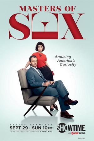 Michael Sheen y Lizzy Caplan en Masters of Sex