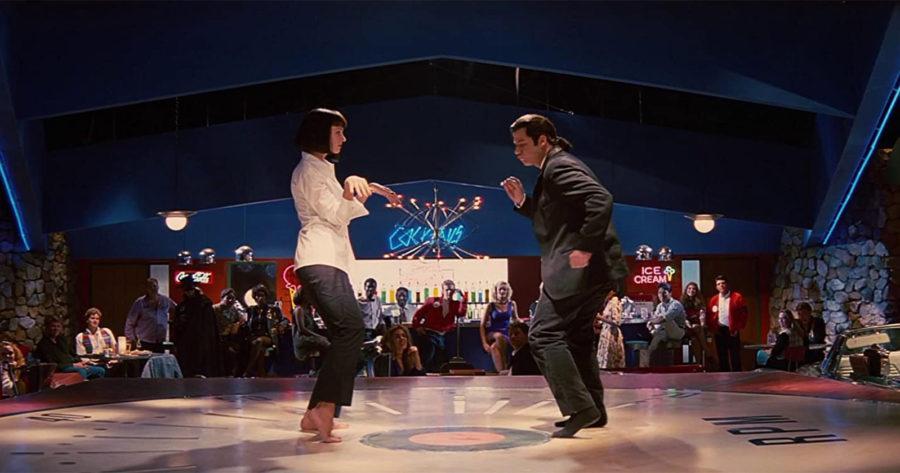 John Travolta y Uma Thurman bailando en una icónica escena de Pulp Fiction