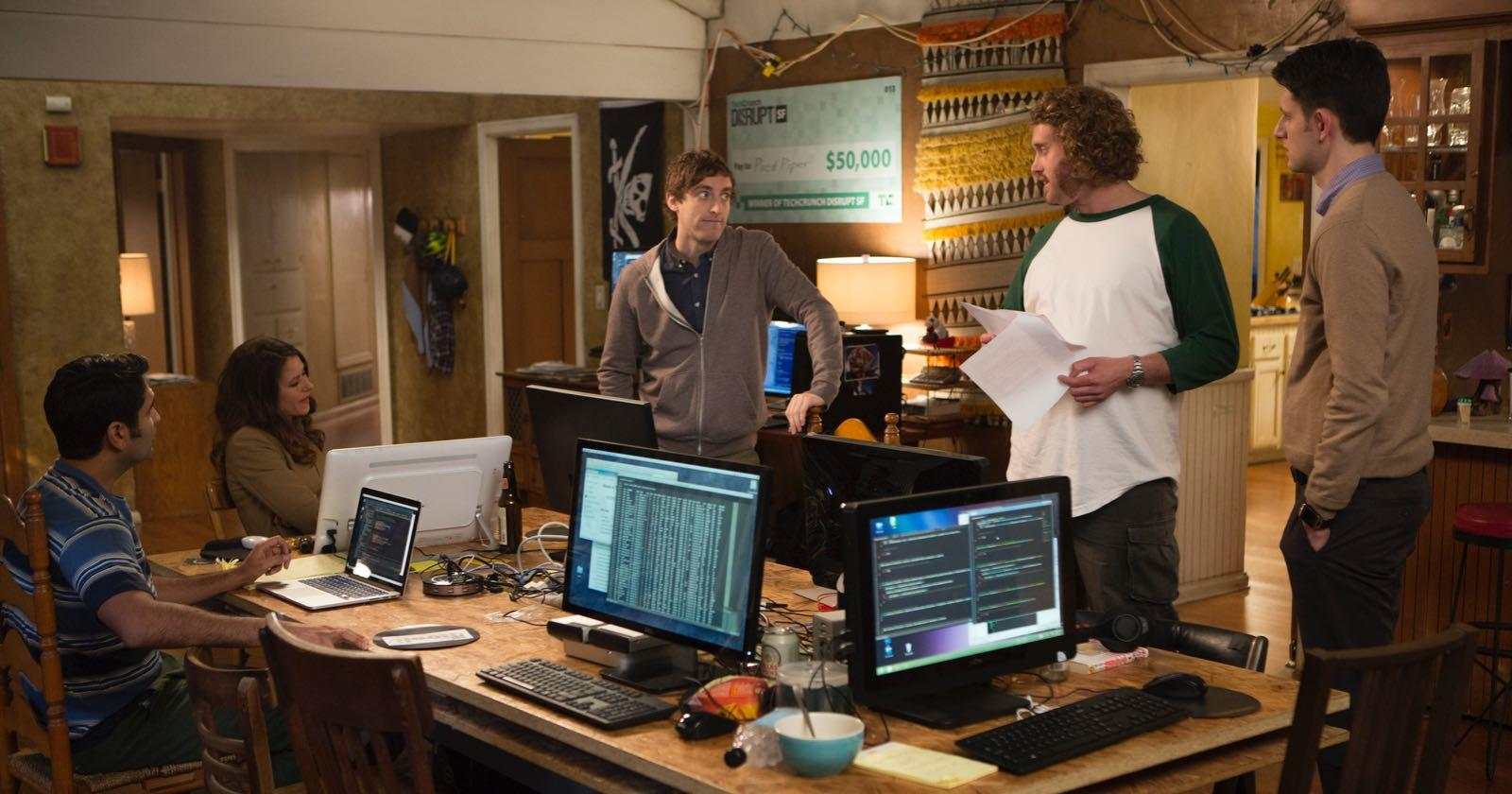 Protagonistas de Silicon Valley, serie de HBO.