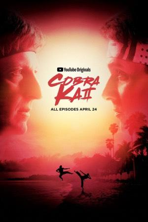 William Sabka protagonizando la serie Cobra Kai, disponible en Netflix.