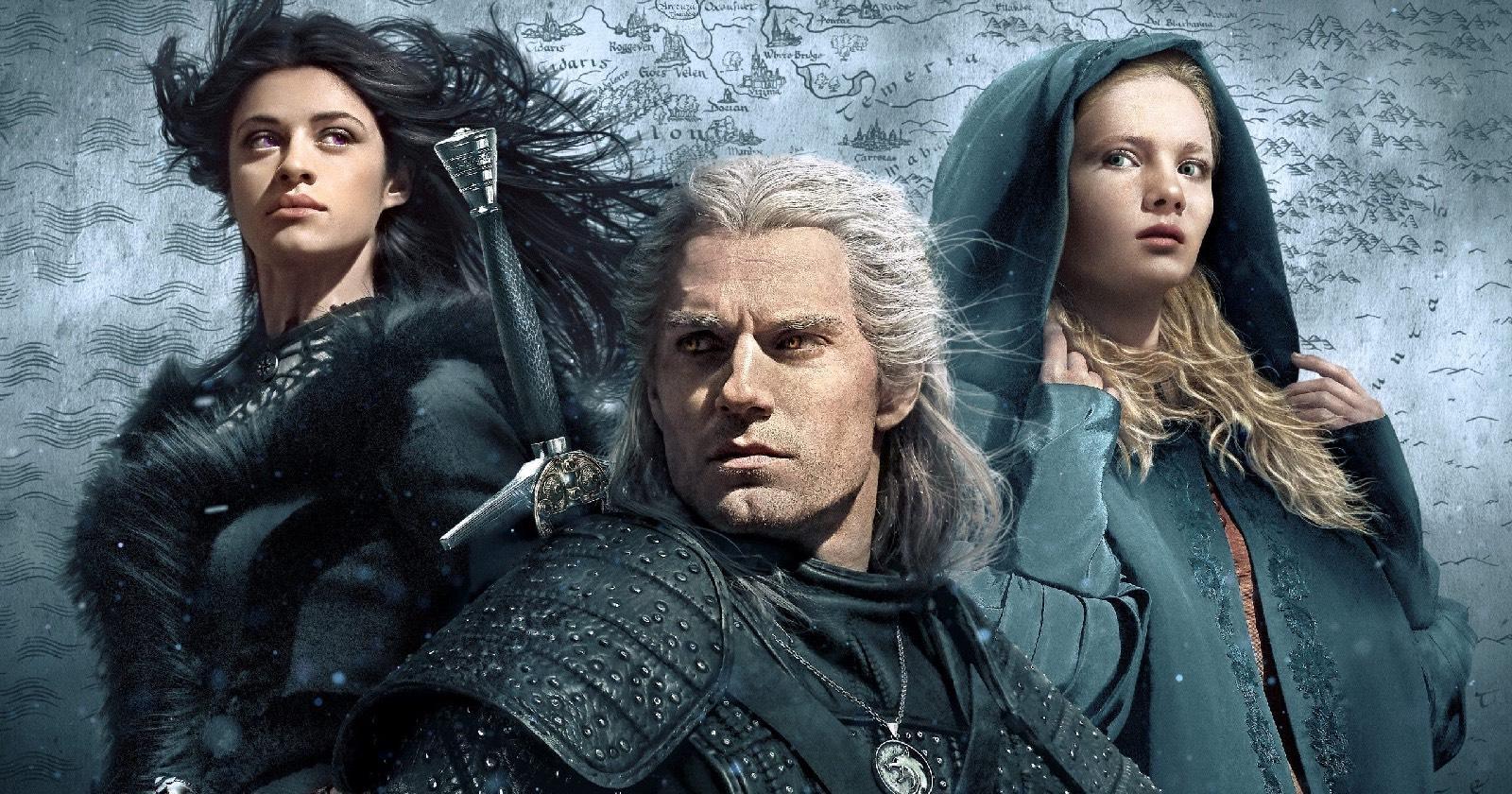 Yennefer, Gerlat y Cirilla en The Witcher