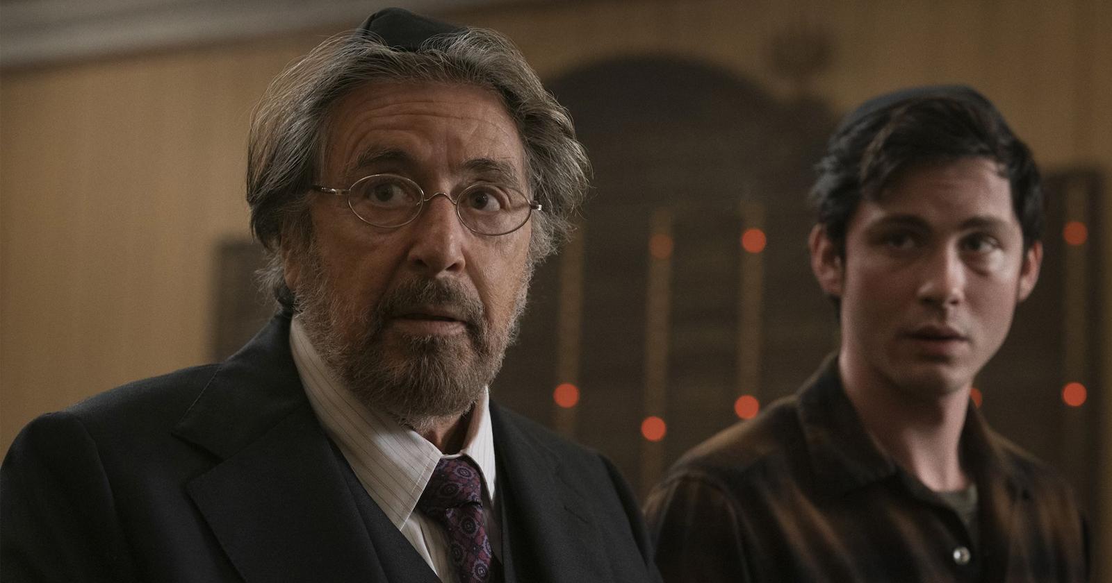 Al Pacino y Logan Lerman en Hunters.