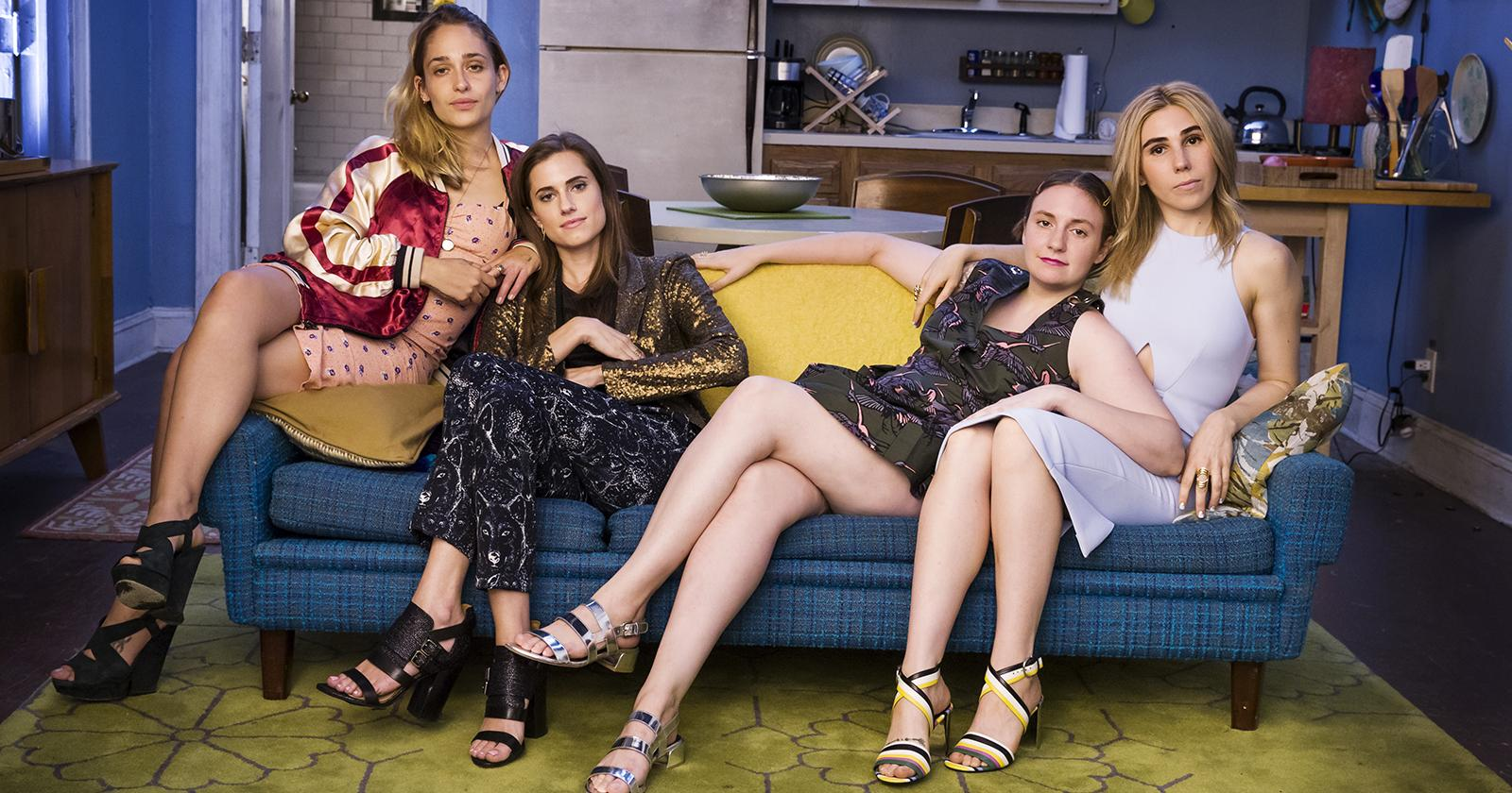 Jessa (Jemima Kirke), Marnie (Allison Williams), Hannah (Lena Dunham) y Shoshanna (Zosia Mamet)