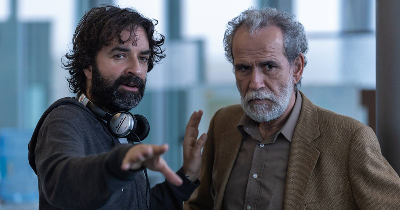 Los Favoritos de Midas, El director Mateo Gil dando instrucciones al Guillermo Toledo quien interpreta al inspector Conte