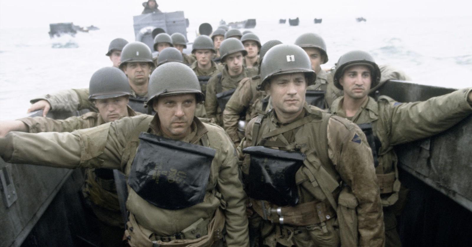 Escena característica del inicio de Rescatando al soldado Ryan