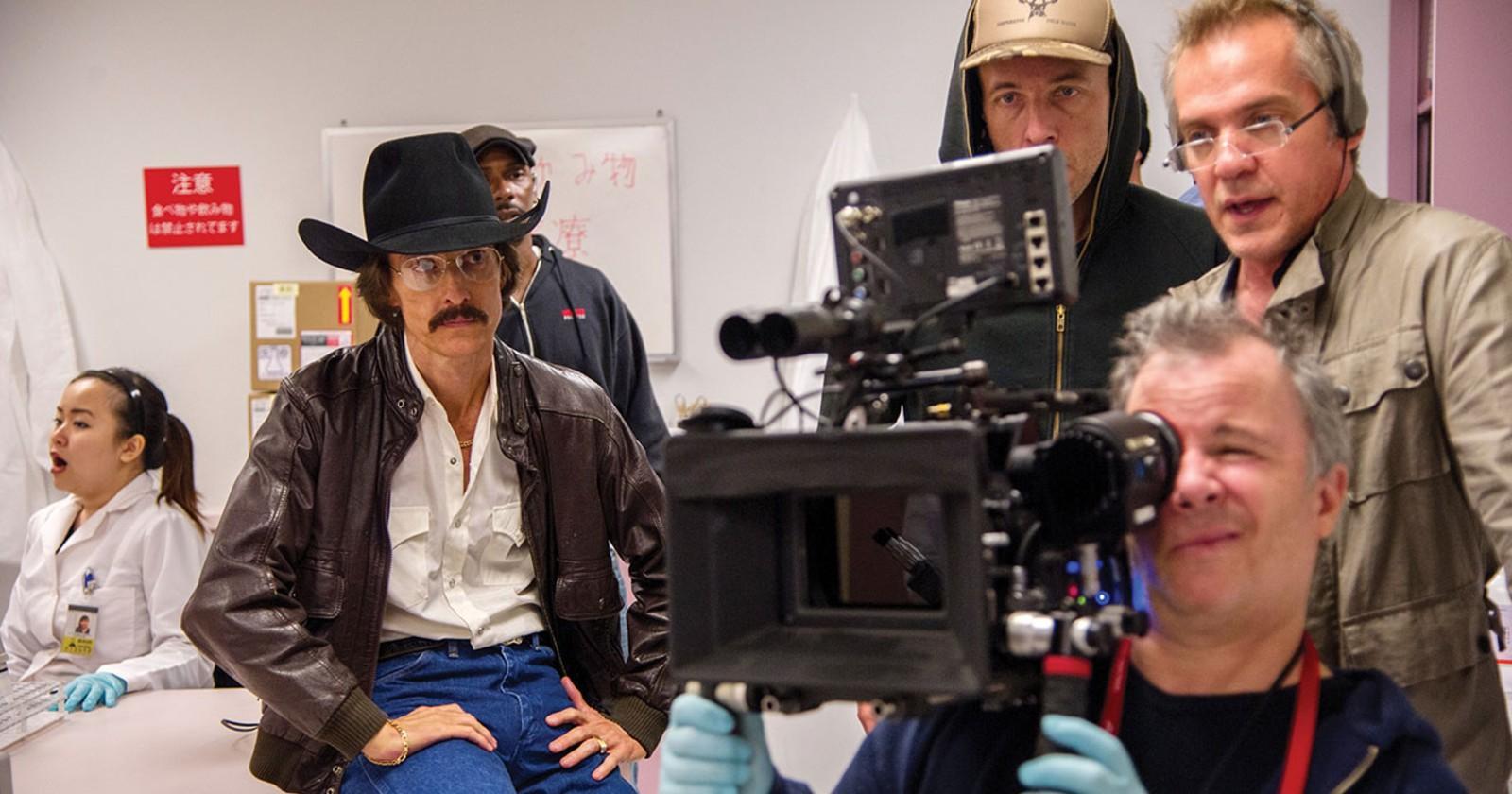 Equipo de Dallas Buyers Club filmando en locación