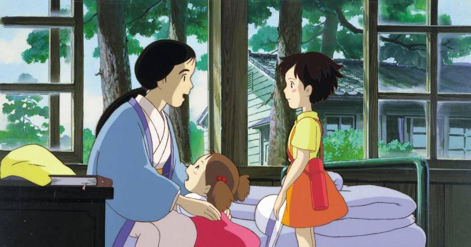 Satsuki, Mei y su madre en Mi vecino Totoro