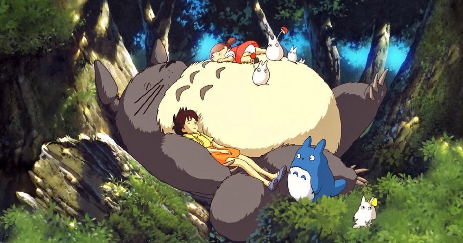 Totoro, Satsuki y Mei en Mi vecino Totoro