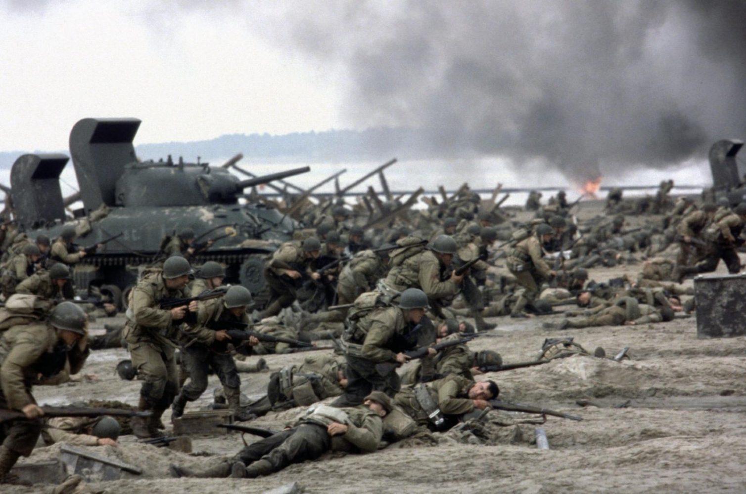 Desembarco de Normandía en Rescatando al soldado Ryan