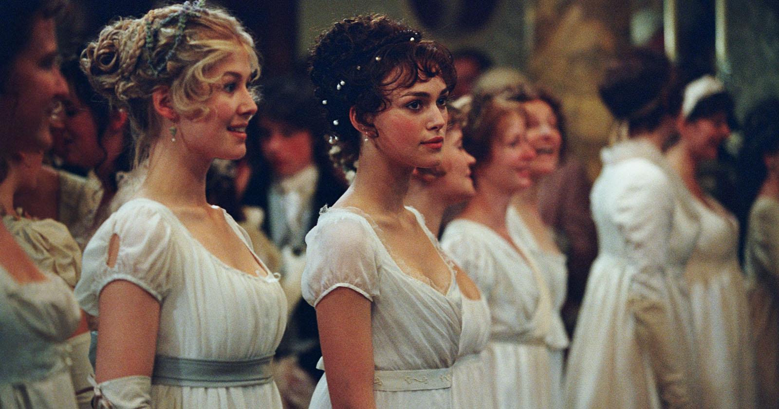 Jane y Elizabeth en un baile del pueblo