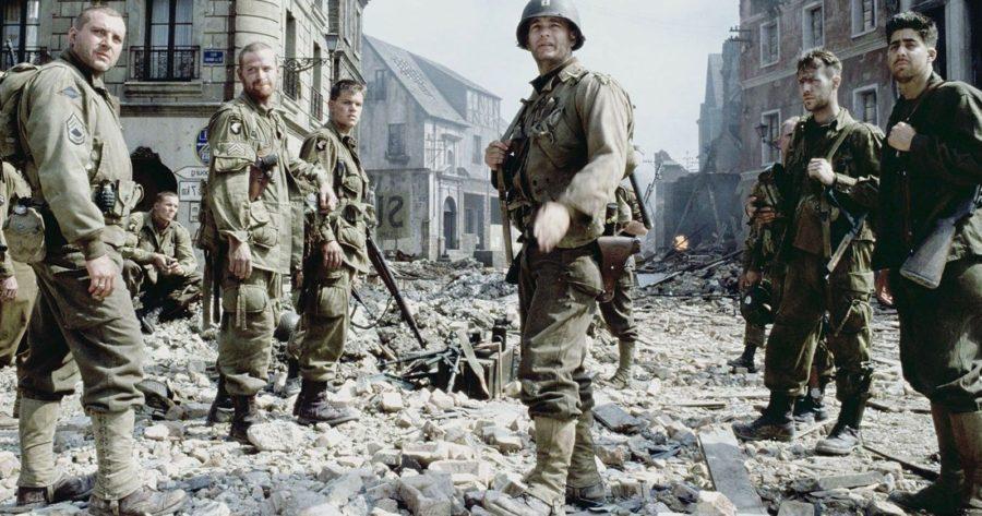Escena de la película Rescatando al soldado Ryan